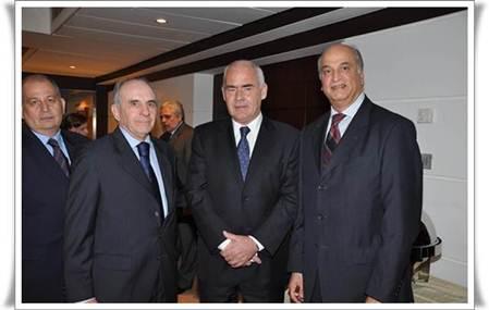 Left to Right Omar Khedragha tanslator, Mr. Jose Maxwell Argentinian Ambassador, Mr. Enrique Meyer Argentinian Tourism Minister Ghassan Kabbara prospower G.M.