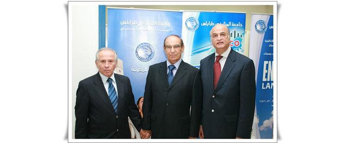 Left to Right Mr. Sami Chami General Director of the Lebanese Ministry of Agriculture, Dr. Sami Menkara President of the University of Al-Manar - Tripoli, Ghassan Kabbara prospower G.M.